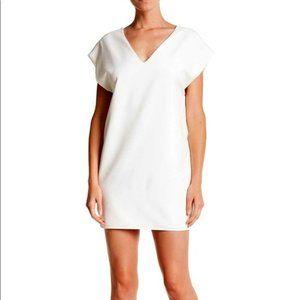 The Vanity Rom white shift dress